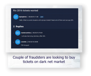 dark net market fraudsters trying to buy tickets rio 2016