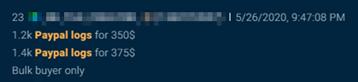 Paypal logs