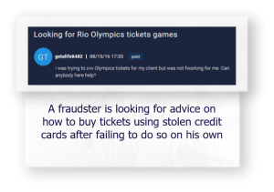 fraudsters advice stolen credit cards use to buy tickets